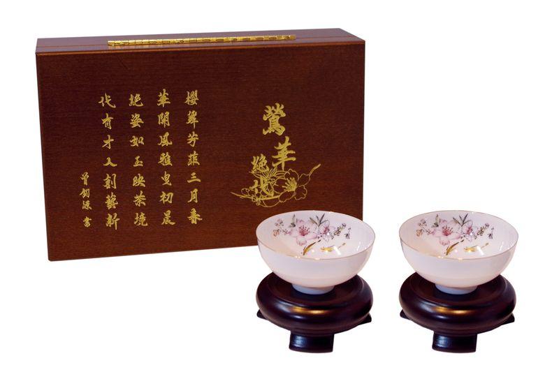 薄胎瓷鶯華絕代茶杯組