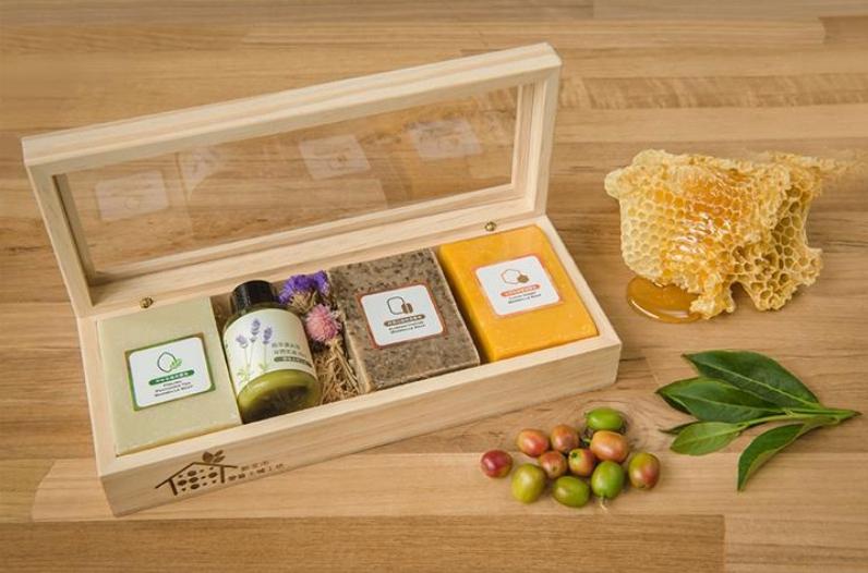 森林寶石手工皂木禮盒